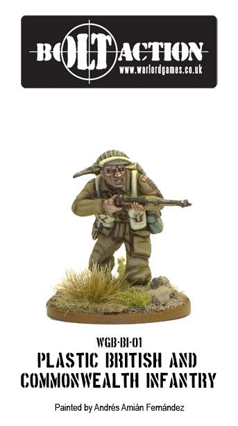Painted Plastic British Infantry