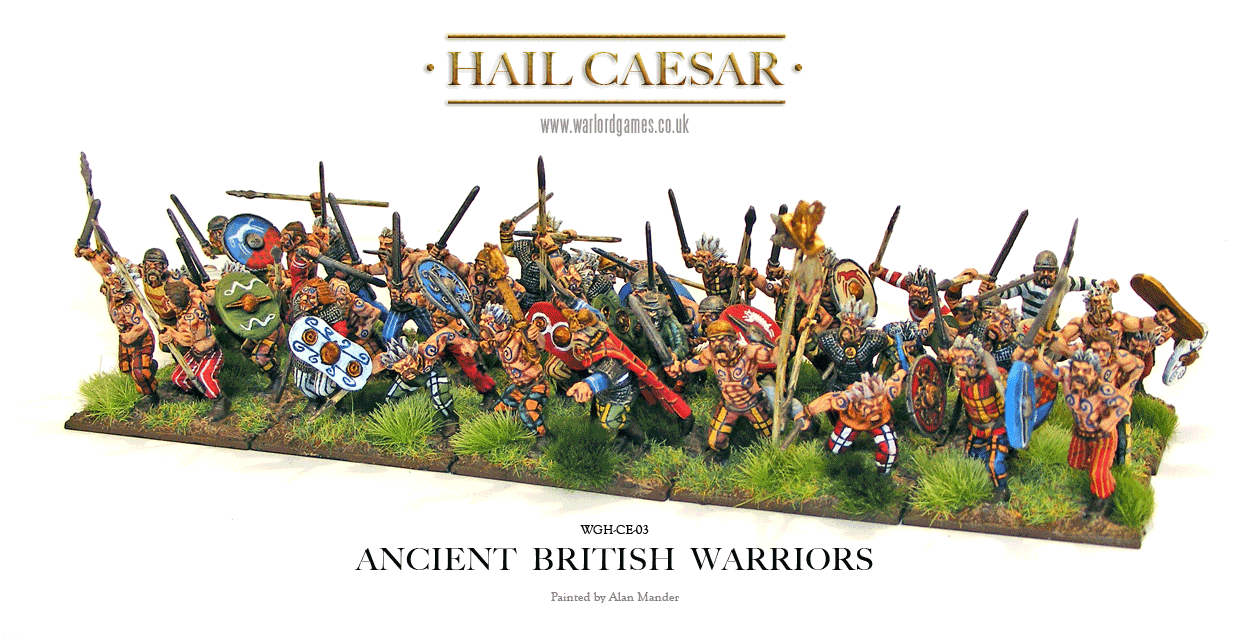 Ancient British Warriors Painted
