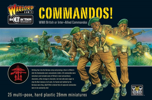 Bolt Action British Commandos 25  - Warlord Games
