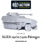 New: Bolt Action Sd.Kfz 251/22 ausf D 7.5cm Pakwagen!