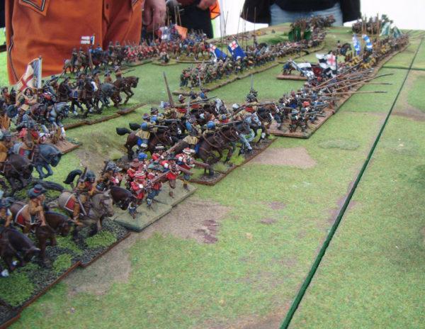 The Royalist Army fully deployed at Naseby