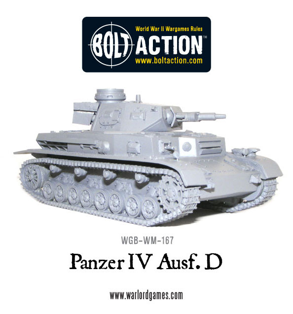 New: Bolt Action Panzer IV ausf D! - Warlord Games