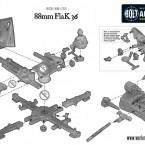 German 88mm Flak 36 – Construction Diagram