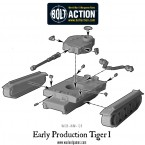 German Early Production Tiger I – Construction Diagram