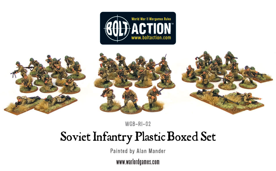 Soviet Infantry Plastic Boxed Set
