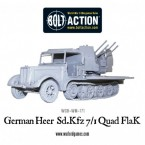 New: Bolt Action German Heer Sd.Kfz 7/1 Quad FlaK!