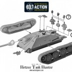 German Hetzer Tank Hunter – Construction Diagram