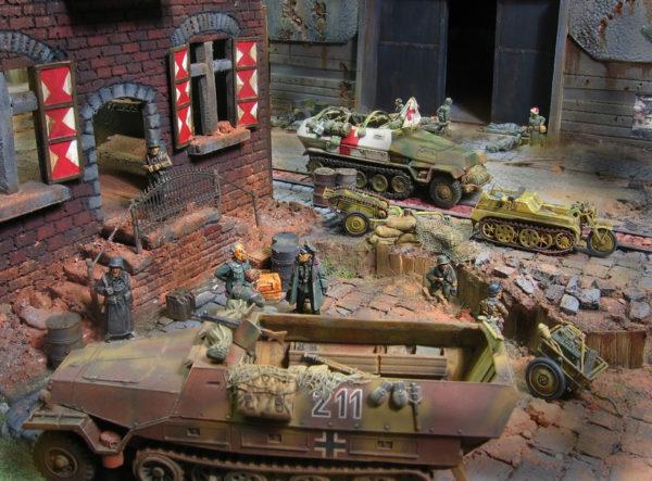 German rear area-L