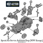 SAS Armoured Jeep (NW Europe) – Construction Diagram