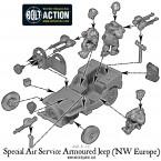 SAS Armoured Jeep (NW Europe) – Construction Diagram