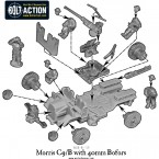 British Morris C9/B with 40mm Bofors – Construction Diagram