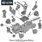 British Morris C9/B with 40mm Bofors – Construction Diagram
