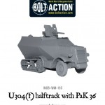New: German U304(f) halftrack with PaK 36