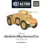 New: Italian Autoblinda AB41 armoured car