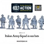 New: Italian Army in sun hats