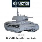 New: KV-8 flamethrower tank