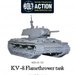 New: KV-8 flamethrower tank