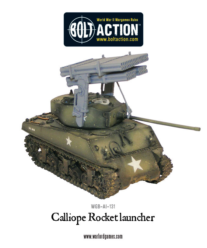 New: Bolt Action Calliope multiple rocket launcher - Warlord