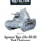 New: Bolt Action Japanese Type 3 Ho-Ni III tank destroyer