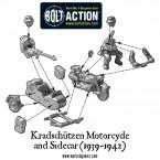 Kradschutzen Motorcycle and Sidecar (1939-1942) – Construction Diagram