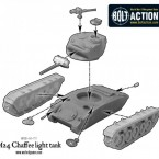 US M24 Chaffee light tank – Construction Diagram