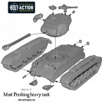 US M26 Pershing heavy tank – Construction Diagram