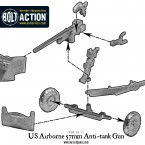 US Airborne 57mm anti-tank gun – Construction Diagram