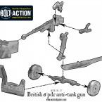 British 6 pdr anti-tank gun