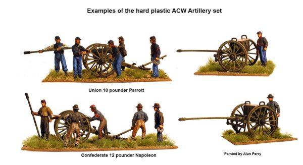 Union and Confederate guns