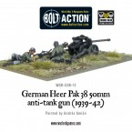 New: German Heer PaK 38 50mm anti-tank gun (1939-42)