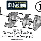 German Horch 1a with 2cm Flak – Construction Diagram