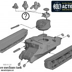 M3 Lee Medium Tank – Construction Diagram