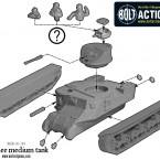 M3 Lee Medium Tank – Construction Diagram