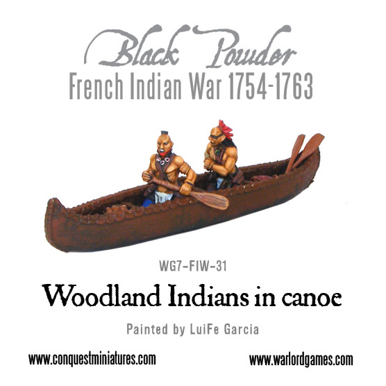 Woodland Indians in canoe