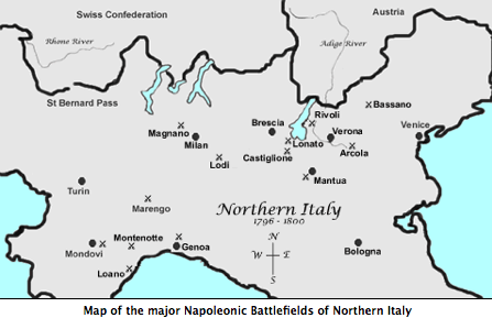 Major Napoleonic Battlegronds of Northern Italy