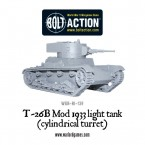 New: T-26B Mod 1933 light tank (cylindrical turret)