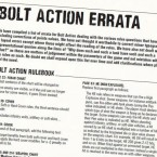 Rules: Bolt Action Second Edition FAQ Update