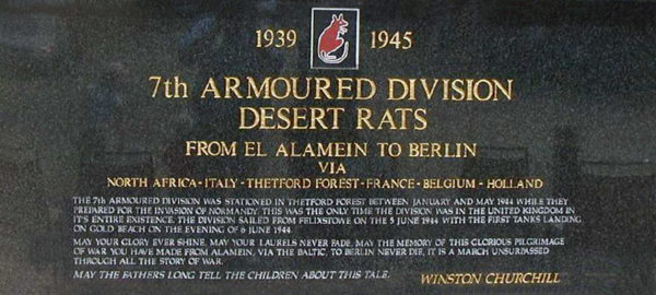 7th armoured Monument