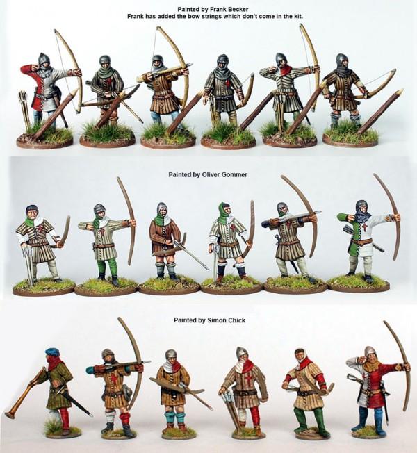 Painted archers x3
