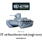 New: OT-26 flamethrower tank (single turret)