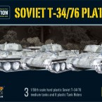 New: Plastic T34/76 Tank and Tank Platoon!