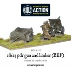 New: 18/25pdr Gun and Limber BEF