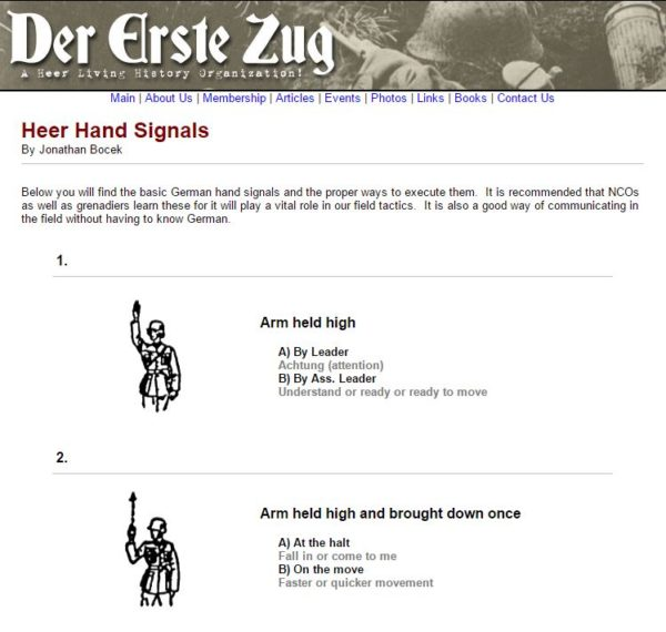 Heer  German Hand Signals manual