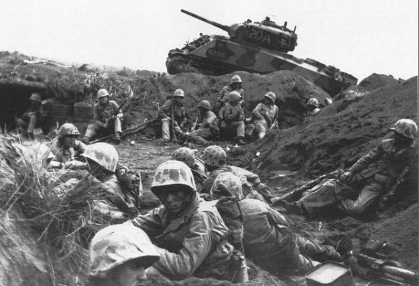 Iwo Jima USMC plus Sherman