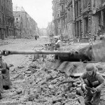Emplaced Panther Tank Berlin 1945 b