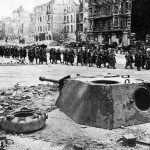 Emplaced Panther Tank Berlin 1945 c
