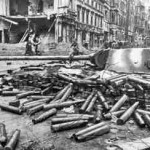 Emplaced Panther Tank Berlin 1945 f