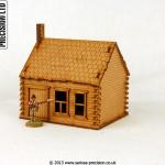 North American Log Cabin - Stone Chimney
