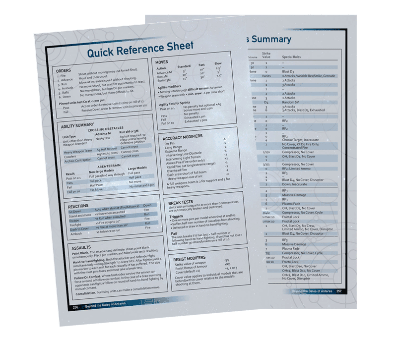 download quick reference sheet weapons summary pdf warlord games