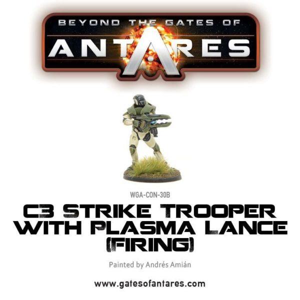 C3 strike trooper with plasma lance firing